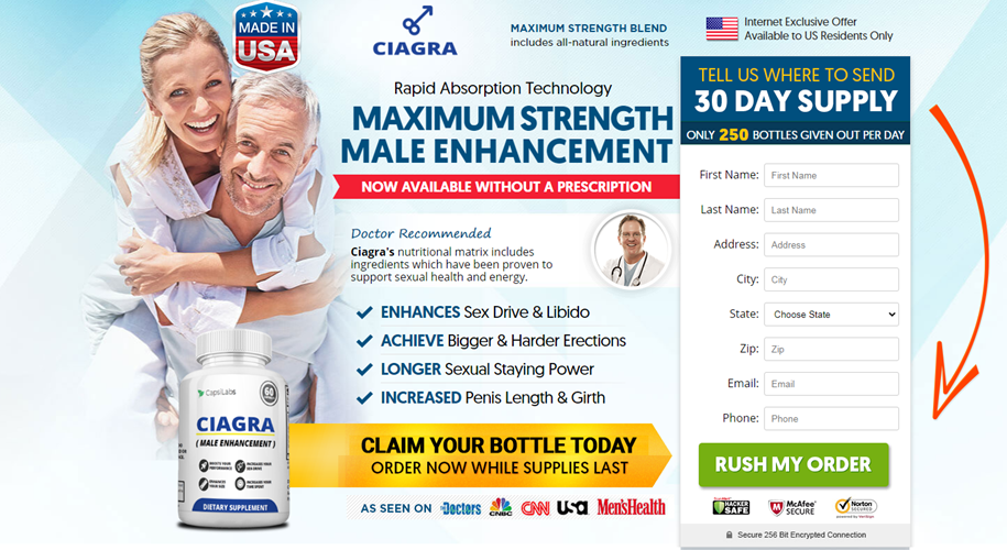 Ciagra Male Enhancement Reviews, Ingredients & Ultimate Results !!!