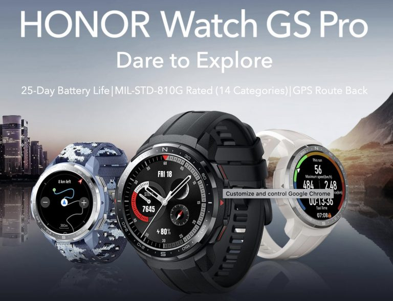 Honor Watch GS Pro: Light on Outdoor Activities